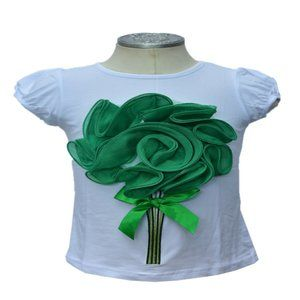 Girls T-Shirt with Flower Detail